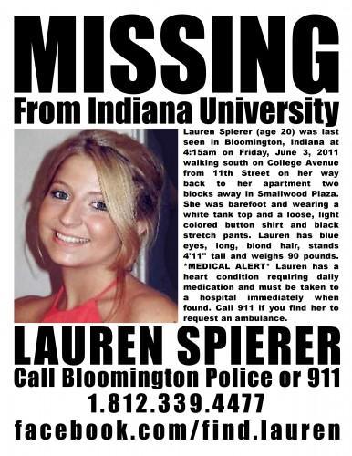 Celeb GOSSIP » Lauren Spierer Case: Missing Body Found?