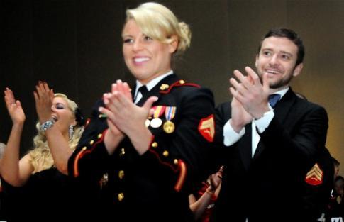 Timberlake at USMC Ball
