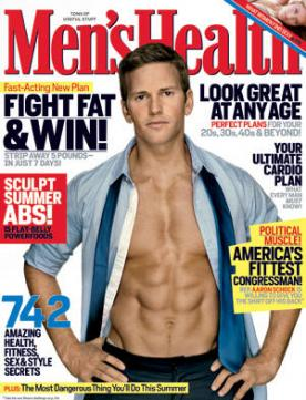 Aaron Schock Men's Health Cover
