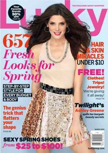 Ashley Greene Lucky Cover