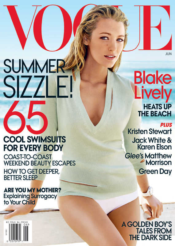 Blake Lively looks great on the cover of Vogue for the second time in the