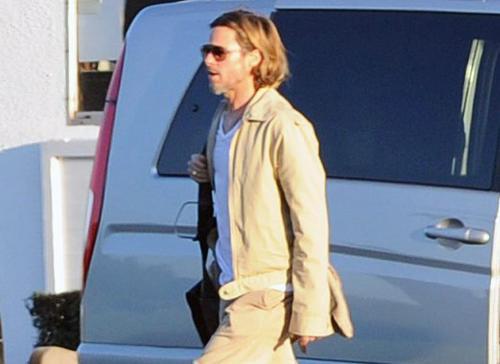 Brad Pitt in England