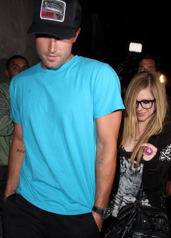Brody Jenner, Avril Lavigne, Tattoo. Brody Jenner shows off his girlfriend
