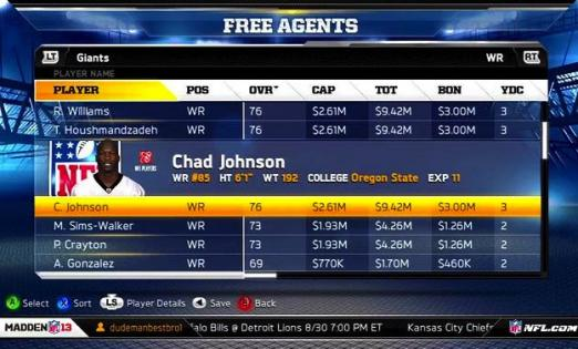 chad johnson madden 522x315 Chad Johnson Madden Tweet Laments Virtual Release