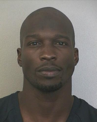 chad johnson ochocinco mug shot 395x493 Chad Johnson Charged With Battery For Evelyn Lozada Head Butting