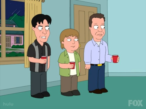 funny family guy. Charlie Sheen on Family Guy