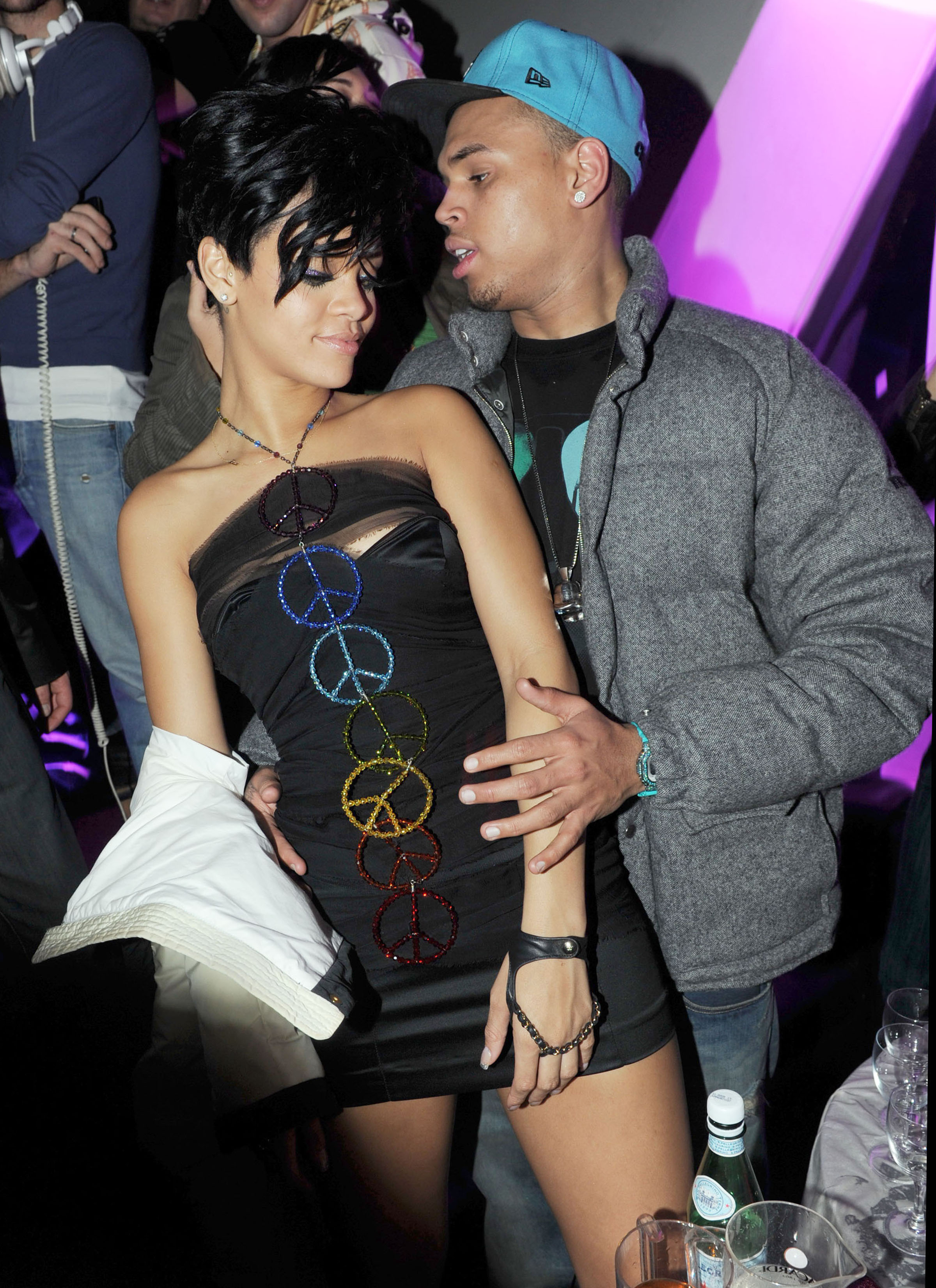 chris brown rihanna pictures leaked. Chris Brown Ogles Rihanna