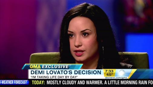 demi lovato cutting. Demi Lovato 20/20 Interview