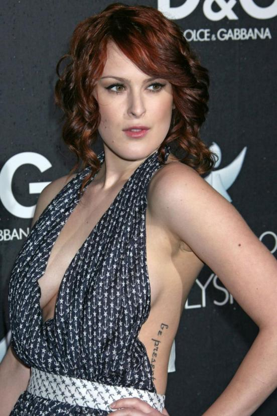 Rumer Willis was spotted, wearing an ugly hair style, at the opening of a