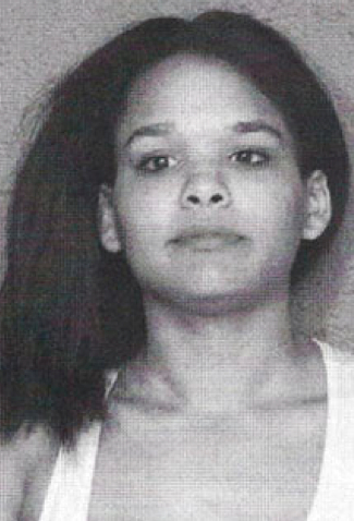 This is Ebony Jackson. In her mug shot. Like so many 16 and Pregnant stars ...