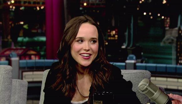 Ellen Page on The Late Show