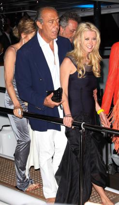 Fawaz Gruosi and Tara Reid