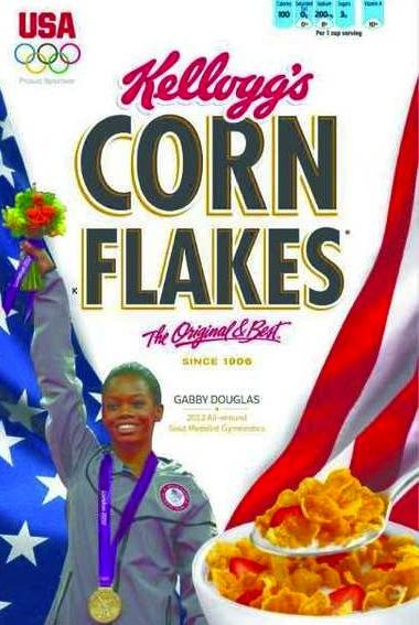 Gabby Douglas: Corn Flakes Box All-Star!