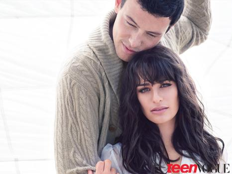 lea michele and cory monteith gq. Lea Michele and Cory Monteith