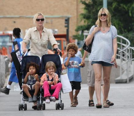 heidi klum seal and children. Heidi Klum and Kids