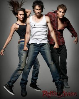 Ian Somerhalder, Paul Wesley and Nina Dobrev