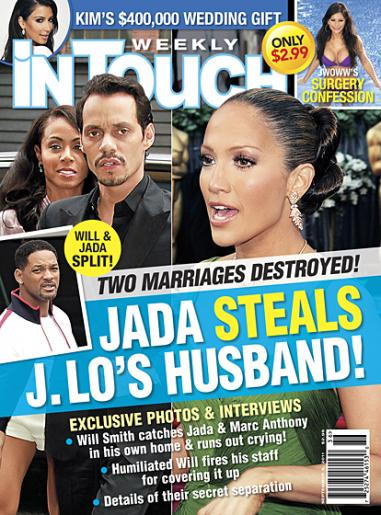 in touch weeekly report 381x515 Did Will Smith Walk in on Jada and Marc Anthony?!?