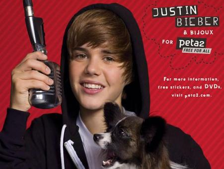 justin bieber dog sam. Justin Bieber for PETA