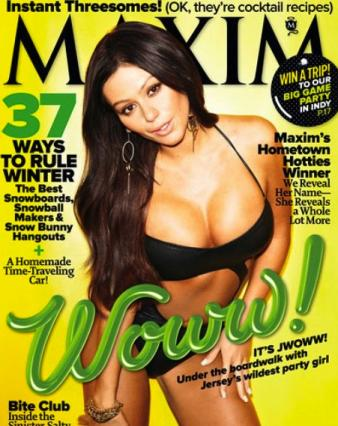 J-woww cover of Maxim Magazine January 2012