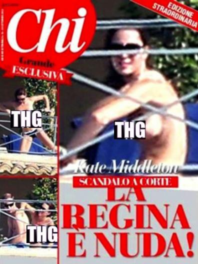 kate middleton topless cover 396x528 Kate Middleton Nude Photos Published By Chi Magazine