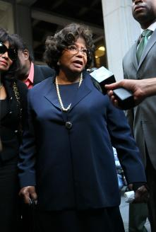 Katherine Jackson at the Mic