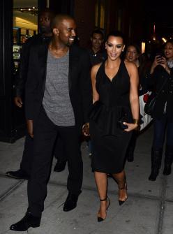 Kim Kardashian and Kanye West Photo