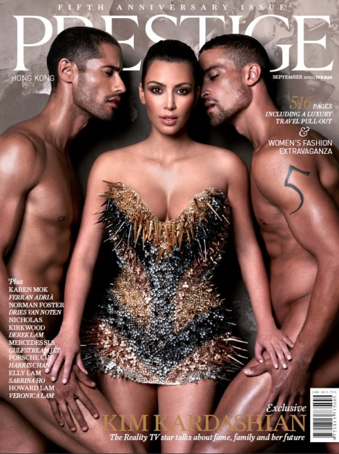 For a major change, Kim Kardashian is not the one whose naked on this ...