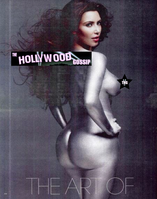 This is Kim Kardashian nude in W Magazine. We covered it up out of basic ...