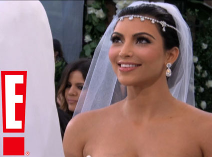 Kim Kardashian Wedding Pic