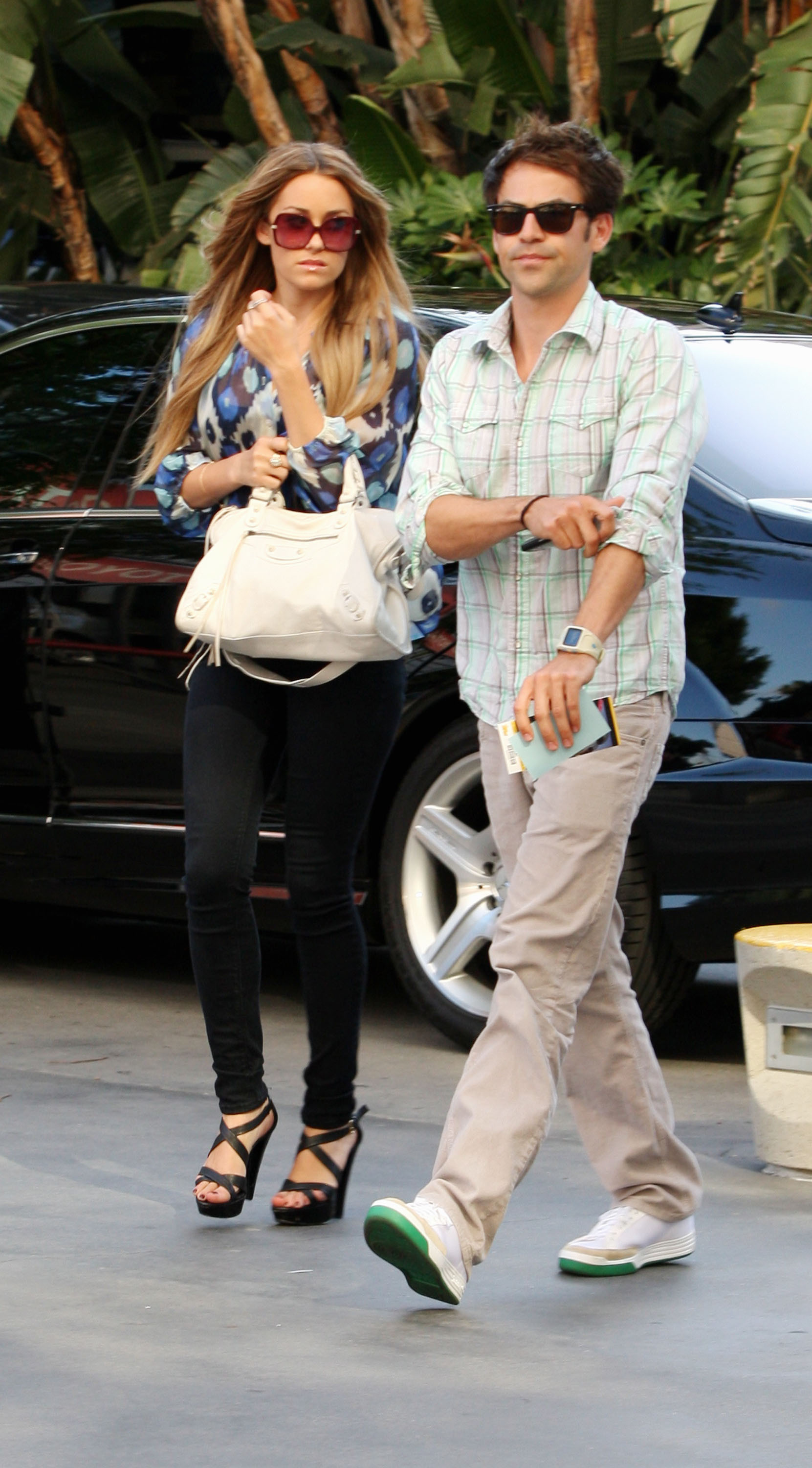 No idea who this new guy is with Lauren Conrad in July 2007, or whether he