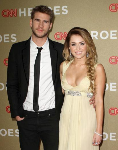 Hemsworth Parents Young Liam Hemsworth and Miley Cyrus