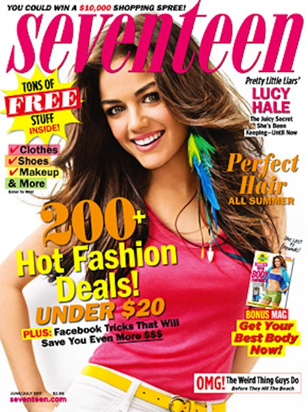 Lucy Hale on Seventeen