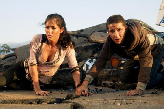 shia labeouf transformers megan fox. Megan Fox and Shia LaBeouf in