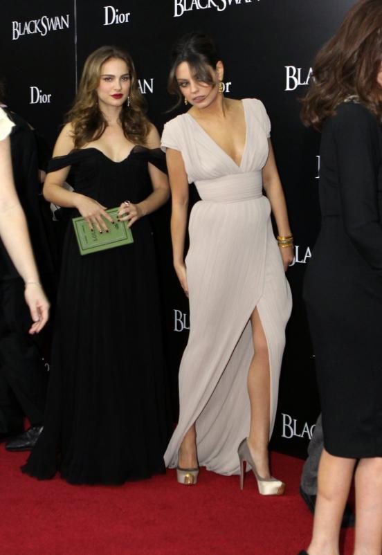 natalie portman and mila kunis in black. Mila Kunis and Natalie Portman
