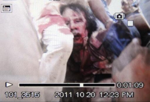 Celebrity Dead Body Photos Gadhafi's dead body taken