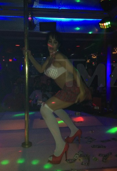 Nadya Suleman Works the Pole