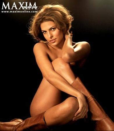 Naked Eva Mendes. Eva Mendes is not shy about her beautiful body.