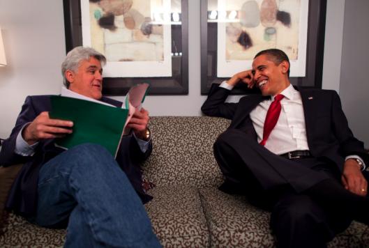 Obama and Leno