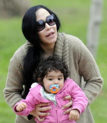 Octomom and Daughter