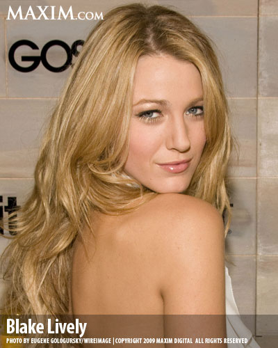 Blake Lively ranks #33 on the annual Maxim Hot List. Not shabby.