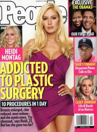 heidi montag plastic surgery cover. Plastic Surgery Addict