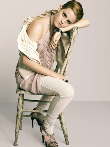 This photo of Emma Watson is courtesy of the November 2010 issue of Marie