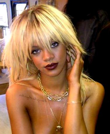 rihanna blond hair