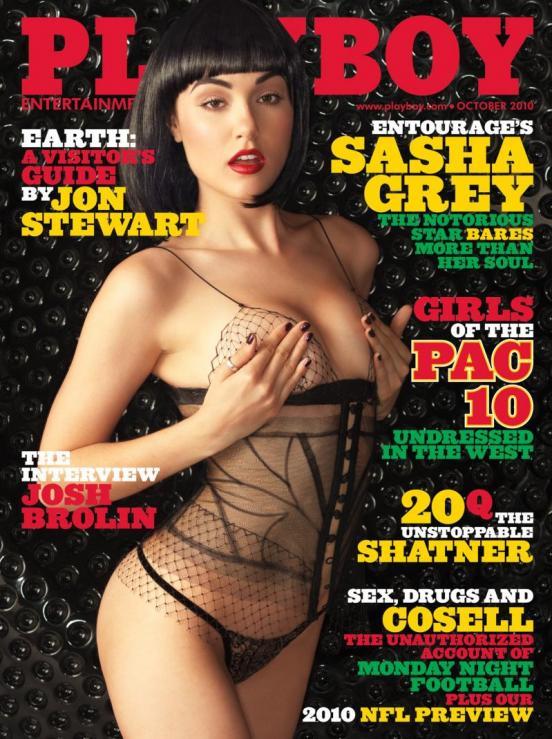 sasha grey. Sasha Grey Playboy Cover