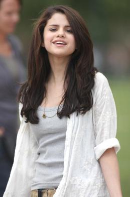 Selena on Set