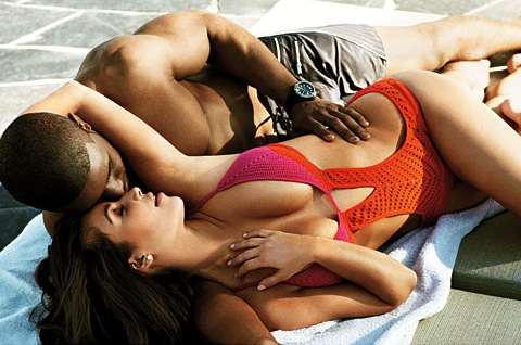 Kim Kardashian and Reggie Bush show off their hot bodies in GQ