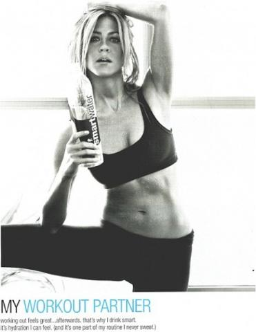 Jennifer Aniston makes you want to reach for  SmartWater.