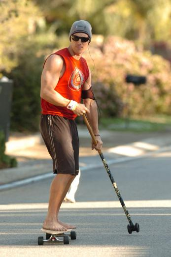 Stud on a Skateboard. It's too bad Matthew McConaughey is wearing a shirt in