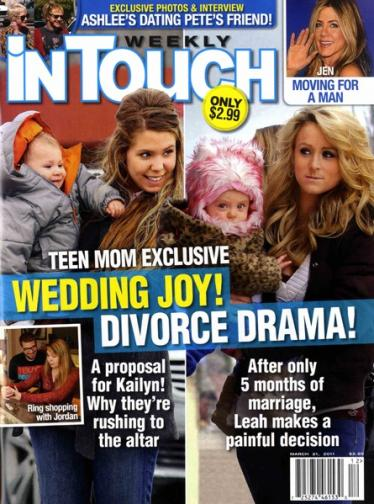 Teen Momma Drama. WEDDING JOY, DIVORCE DRAMA: Or neither of the above.