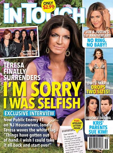 Teresa Giudice on In Touch Weekly Cover